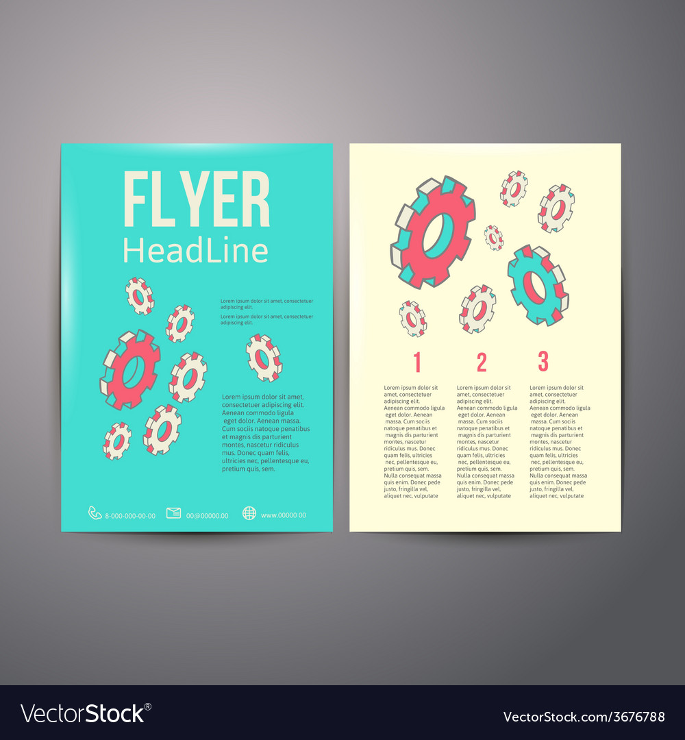 Abstract brochure flyer design human head with vector | Price: 1 Credit (USD $1)