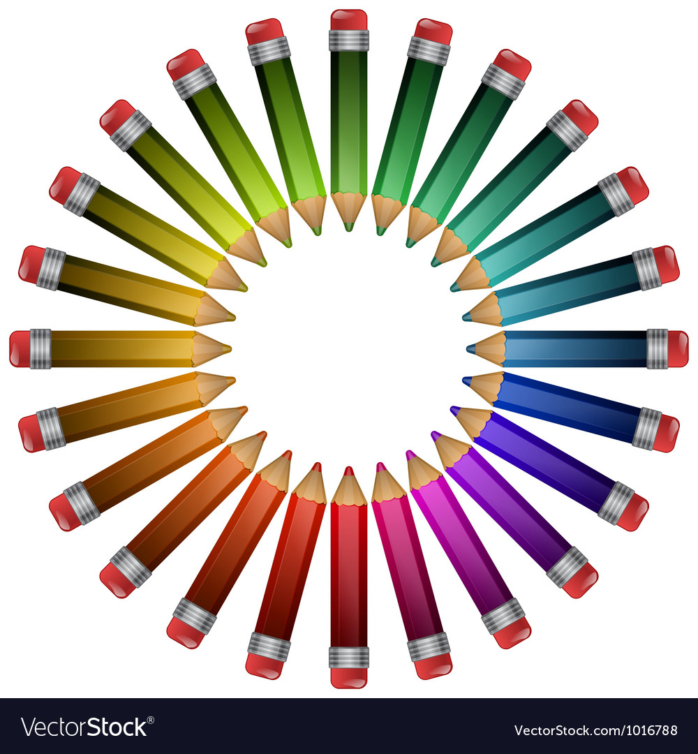 Colored pencils lying around vector | Price: 1 Credit (USD $1)