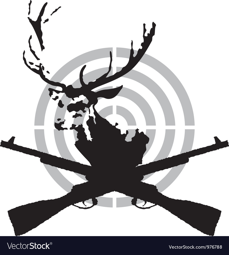 Deer hunt vector | Price: 1 Credit (USD $1)