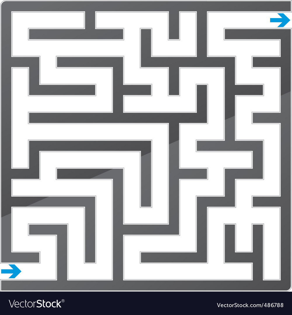 Gray maze vector | Price: 1 Credit (USD $1)