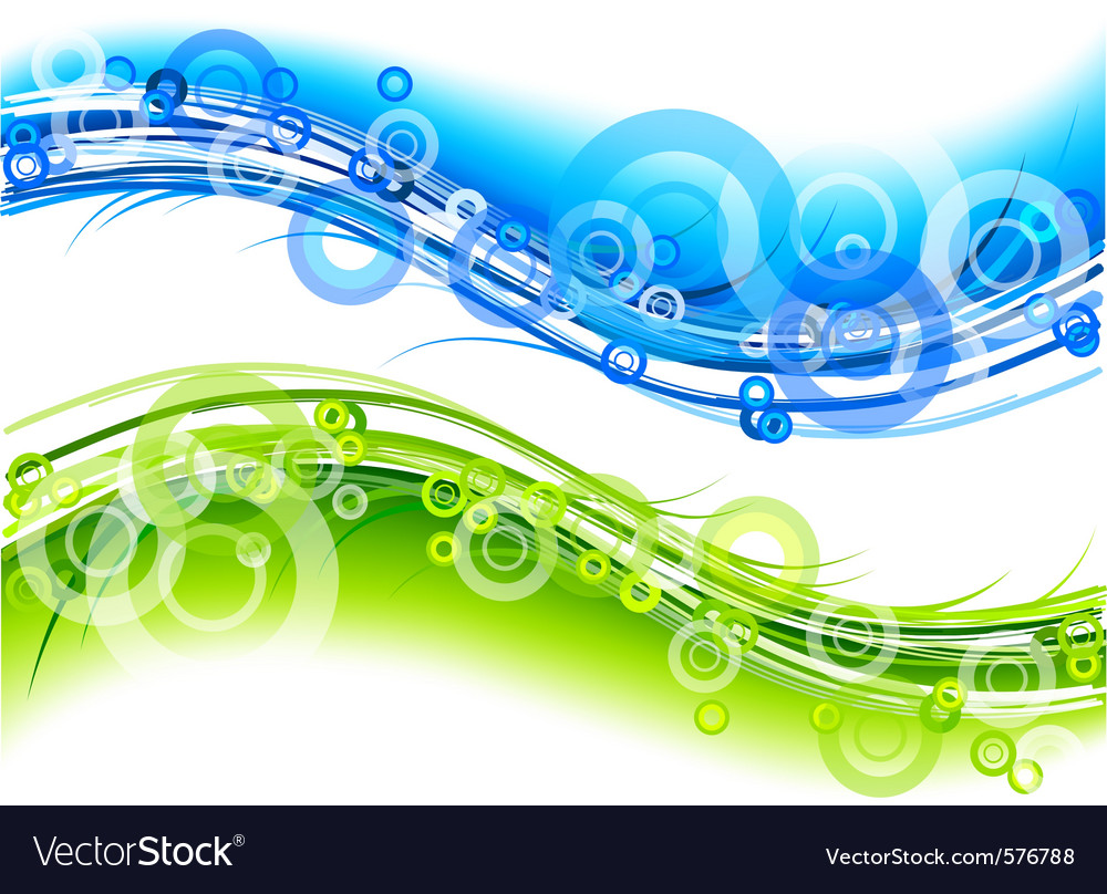 Green and blue abstract graphic vector | Price: 1 Credit (USD $1)
