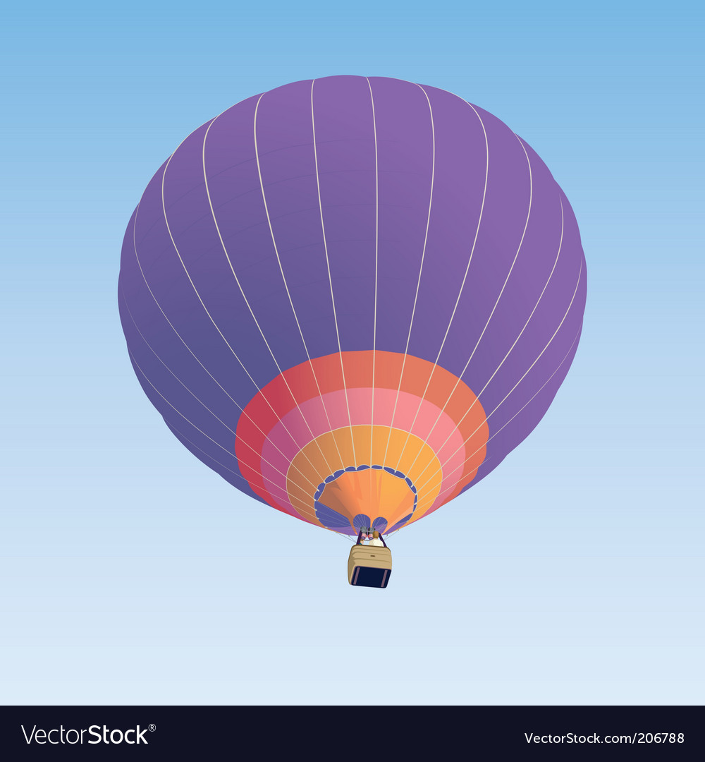 Hot air balloon illustration vector | Price: 1 Credit (USD $1)