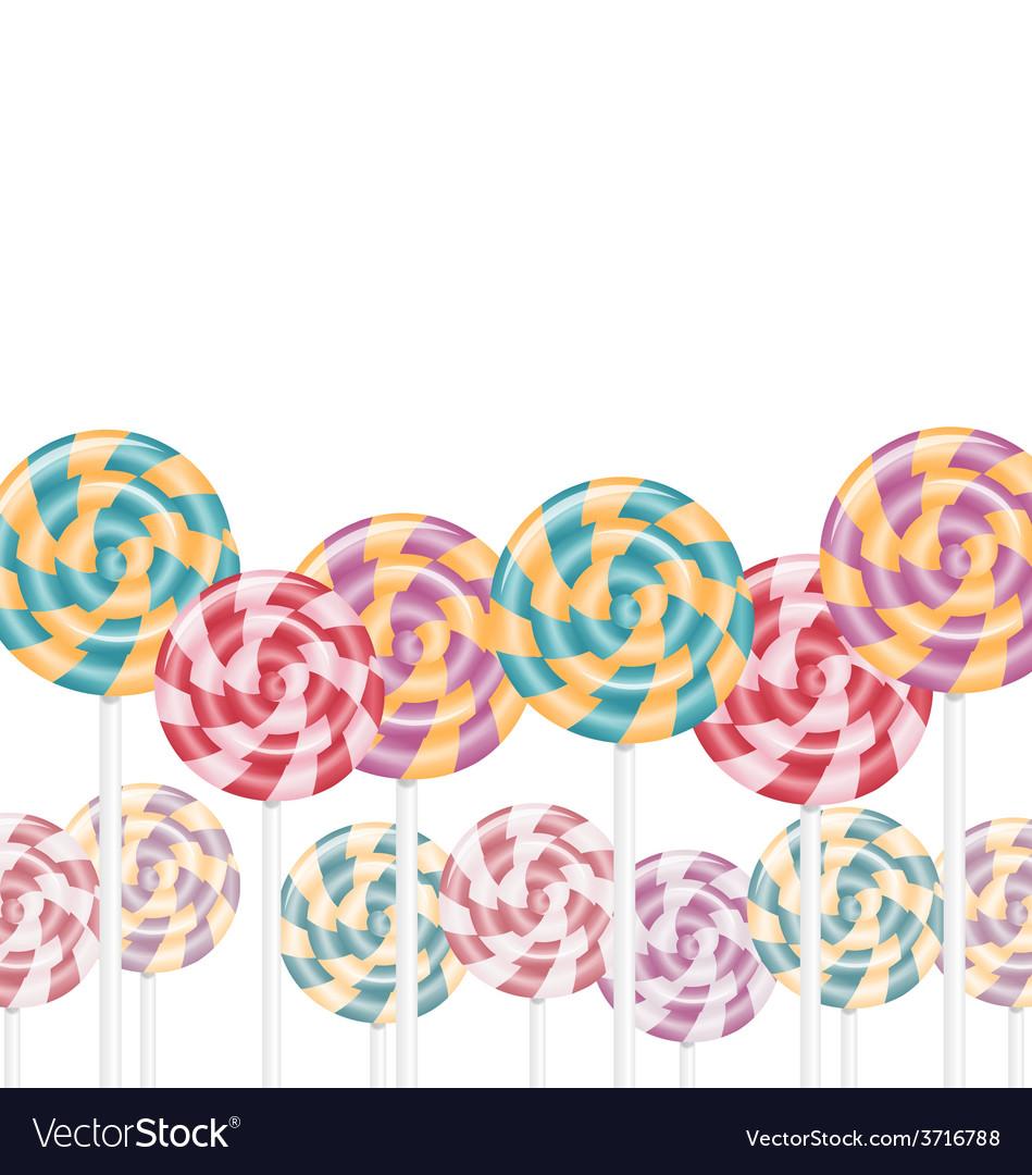Multicolored lollipops on white vector | Price: 1 Credit (USD $1)