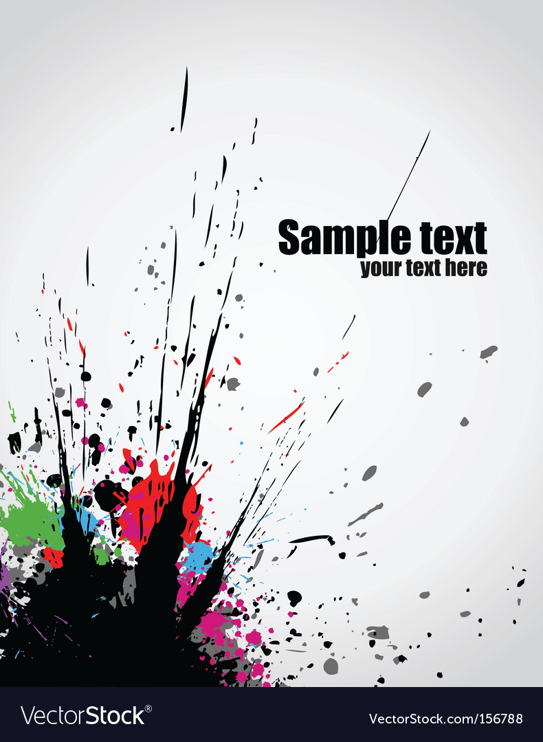 Paint splashes background vector | Price: 1 Credit (USD $1)