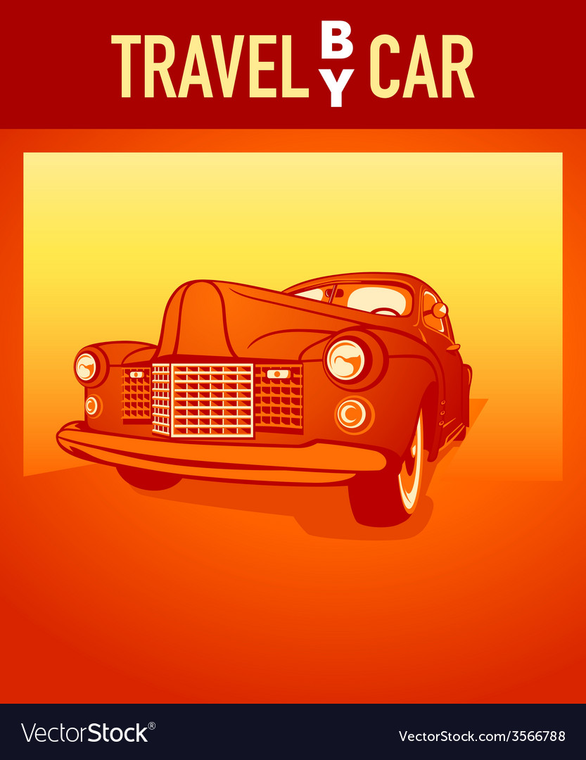 Travel by car vector | Price: 1 Credit (USD $1)
