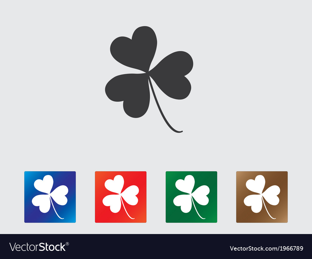 Clover icons vector | Price: 1 Credit (USD $1)