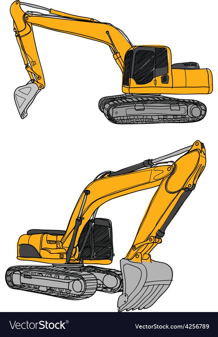 Excavator vector | Price: 1 Credit (USD $1)