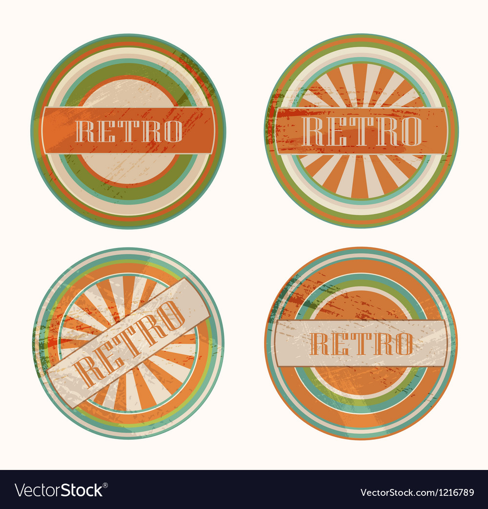Funky retro labels vector | Price: 1 Credit (USD $1)