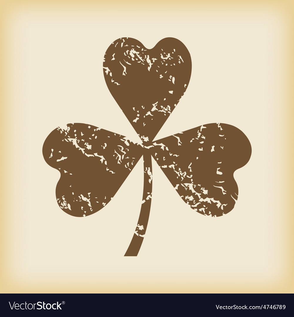 Grungy clover icon vector | Price: 1 Credit (USD $1)