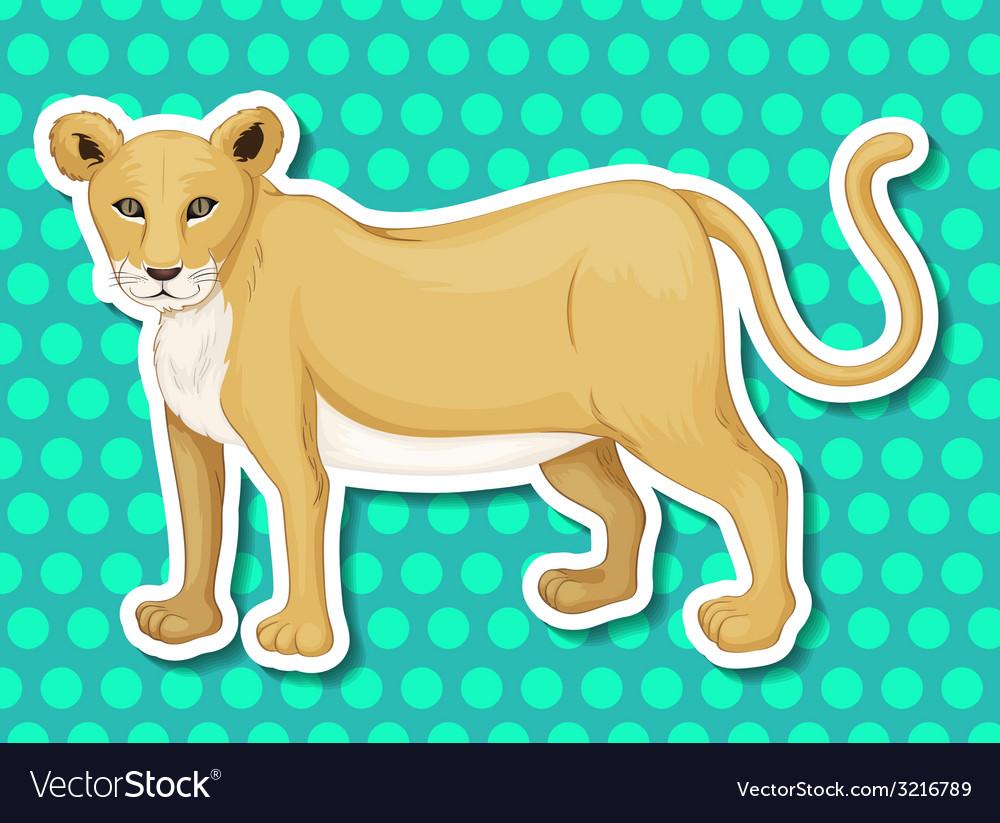 Lioness vector   Price: 1 Credit (USD $1)