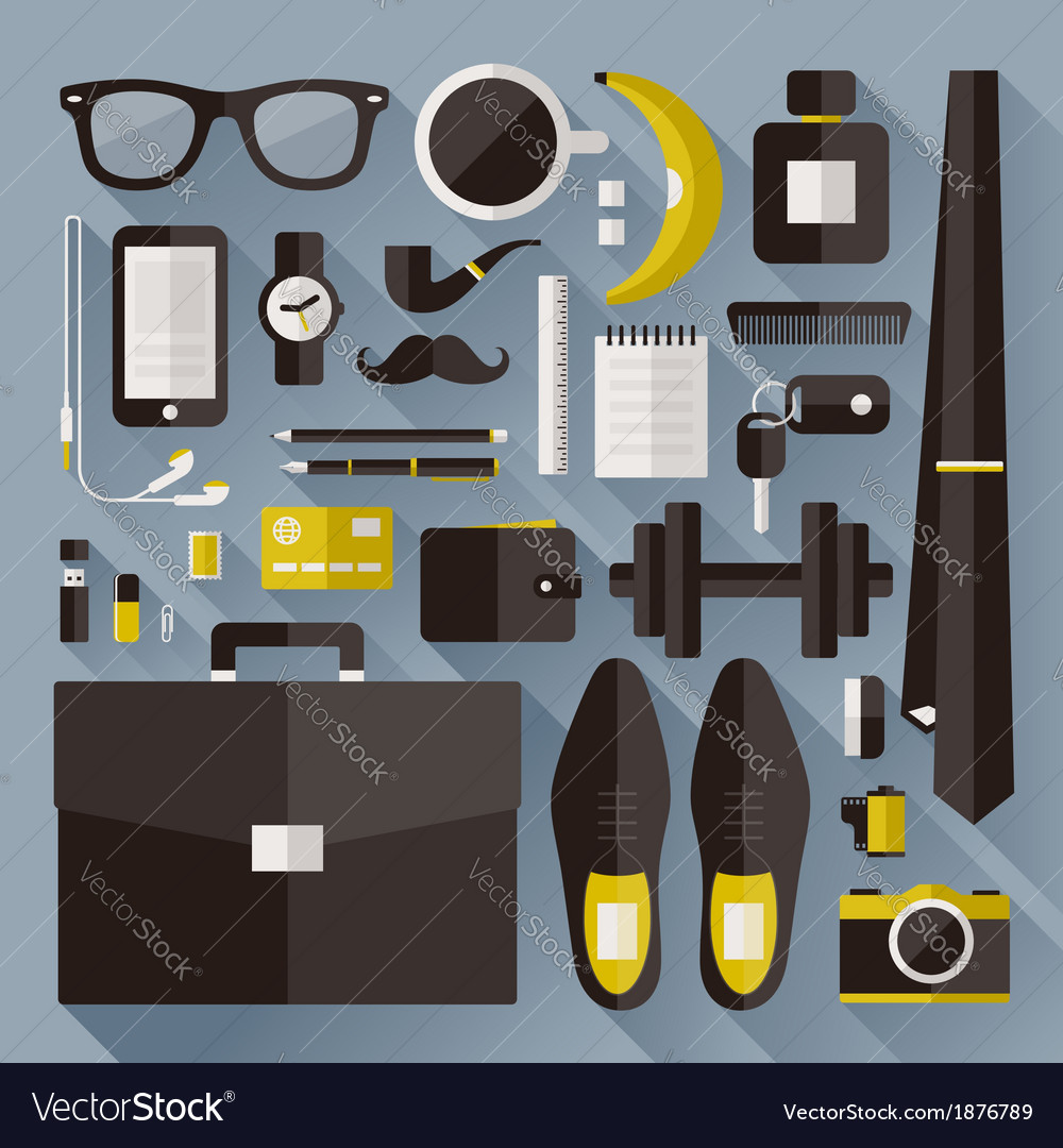 Modern businessman essentials vector | Price: 1 Credit (USD $1)
