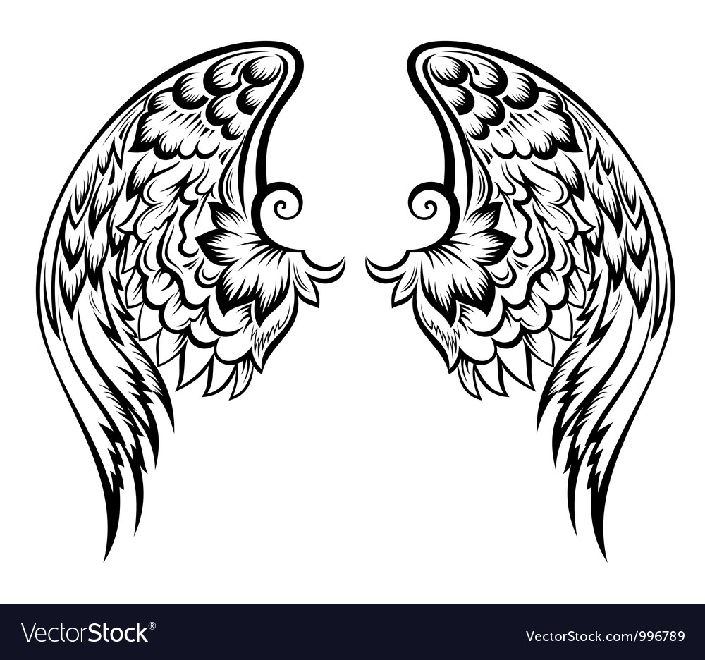 Wings tattoo vector | Price: 1 Credit (USD $1)