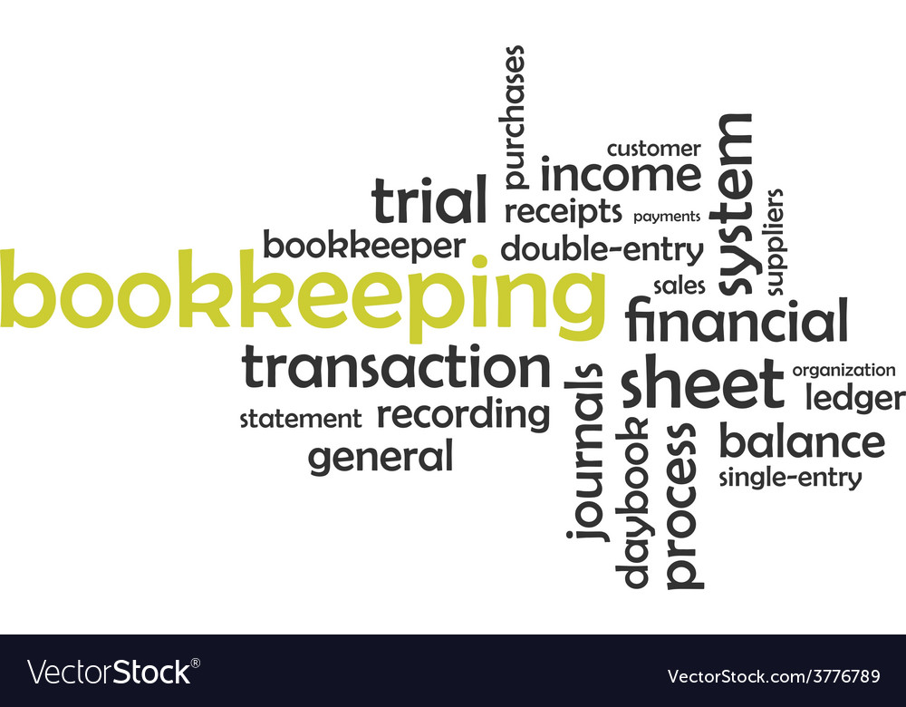 Word cloud bookkeeping vector | Price: 1 Credit (USD $1)