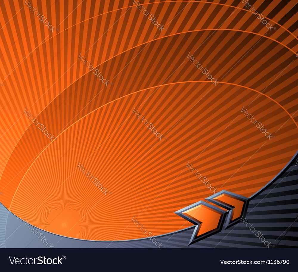 Abstract futuristic background with orange arrows vector | Price: 1 Credit (USD $1)