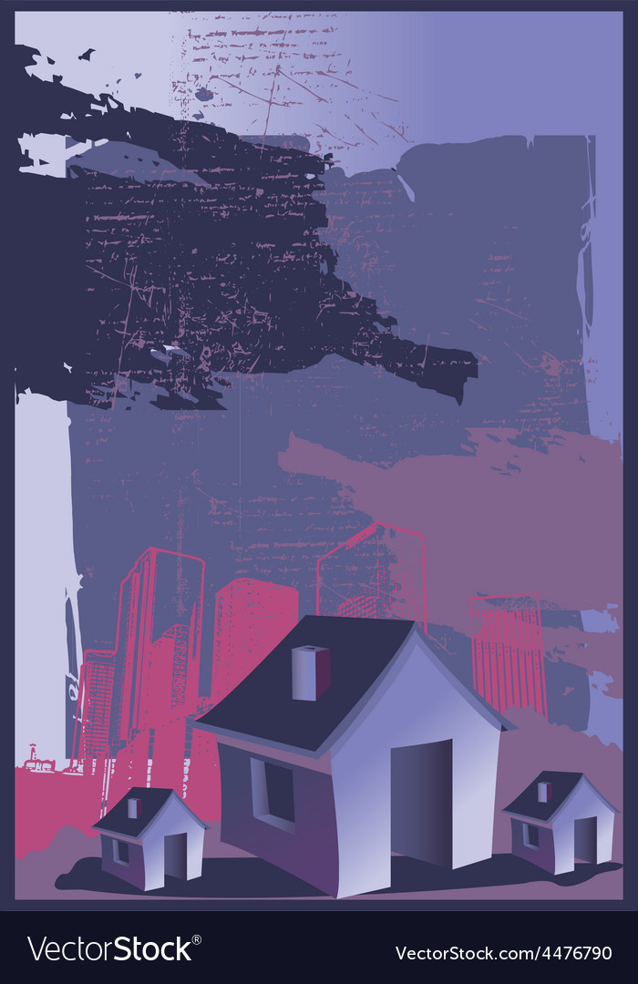 Abstract house design vector | Price: 1 Credit (USD $1)