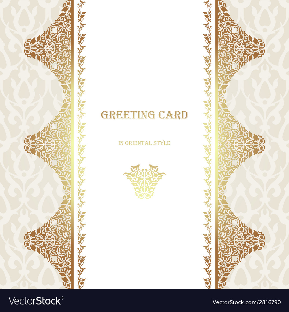 Card in traditional oriental style vector | Price: 1 Credit (USD $1)