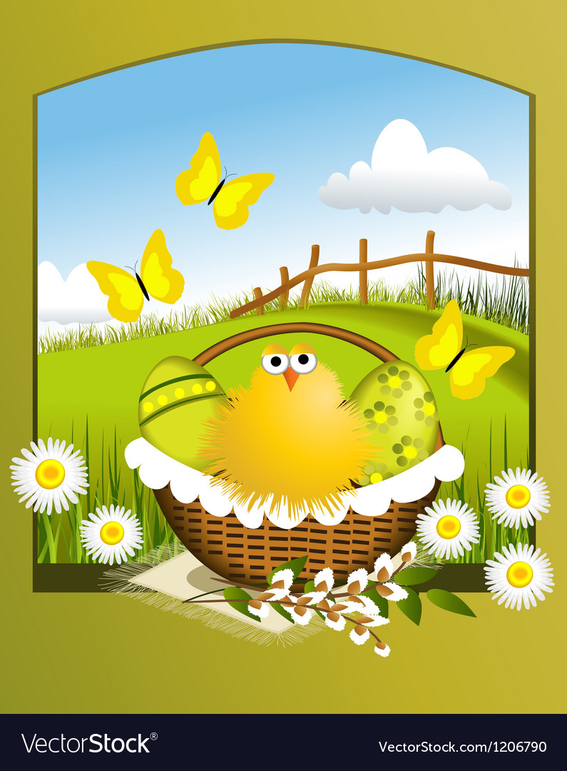 Easter chicken vector | Price: 3 Credit (USD $3)