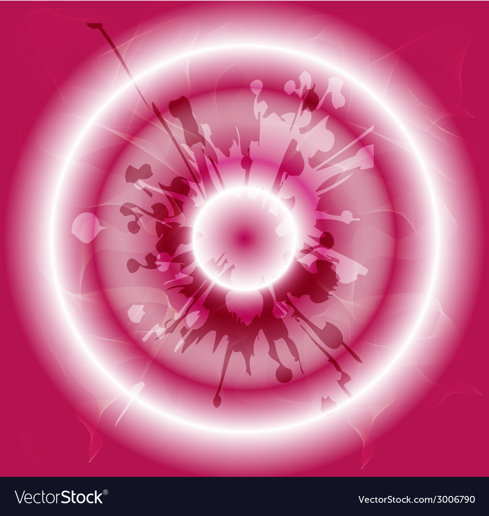 Grunge circles pink background vector