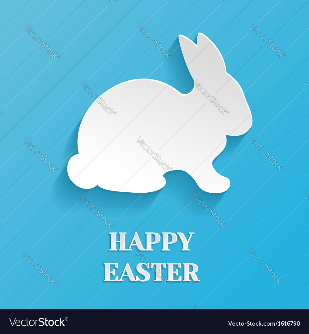 Happy easter rabbit bunny vector | Price: 1 Credit (USD $1)