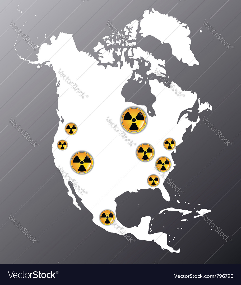 North america nuclear vector | Price: 1 Credit (USD $1)