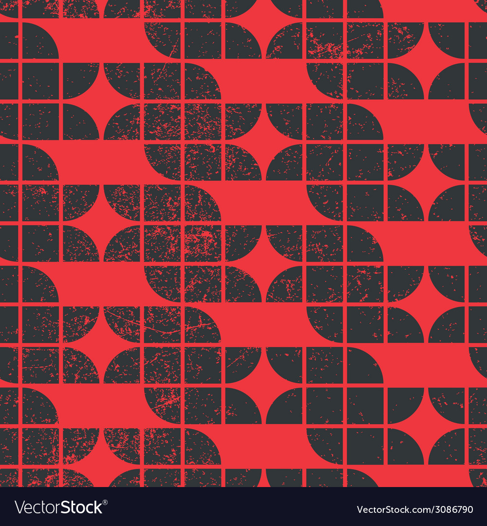 Old tiles seamless background retro style pattern vector | Price: 1 Credit (USD $1)