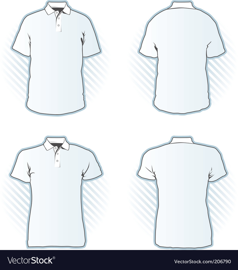 Polo shirt design template set vector | Price: 1 Credit (USD $1)