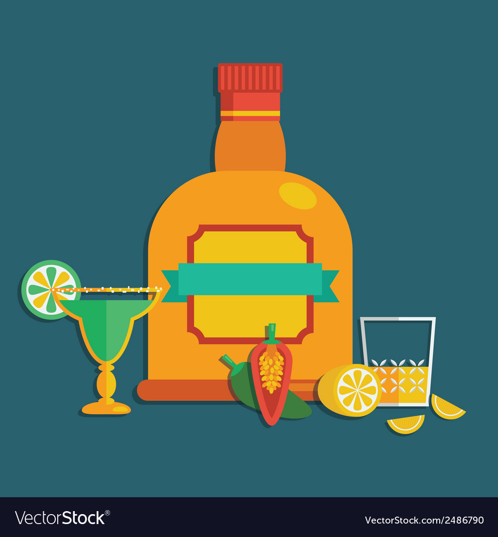 Tequila decoration vector | Price: 1 Credit (USD $1)
