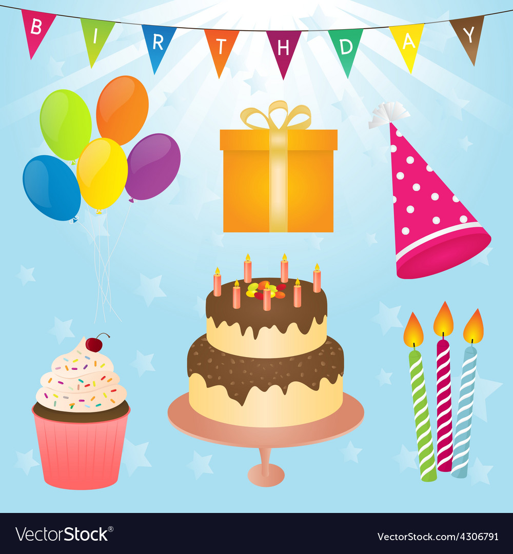 Birthday party element vector | Price: 1 Credit (USD $1)