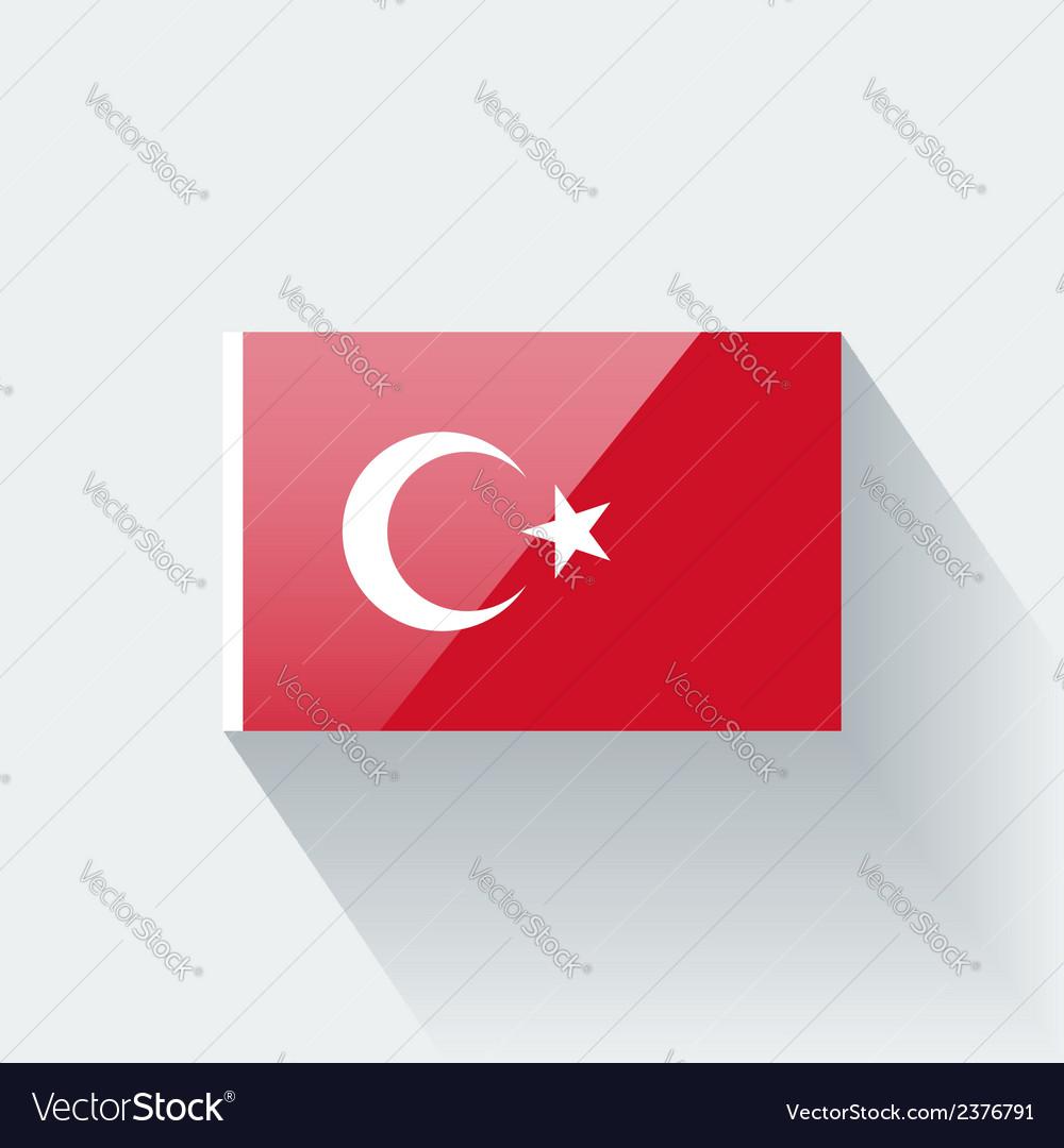 Flag of turkey vector | Price: 1 Credit (USD $1)
