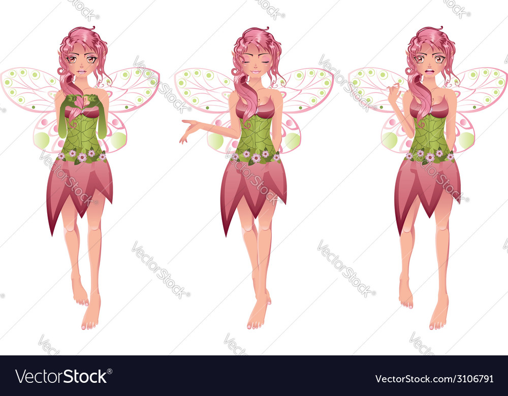 Floral fairy3 vector | Price: 1 Credit (USD $1)