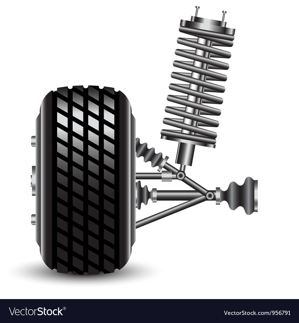 Front car suspension frontal view vector | Price: 1 Credit (USD $1)