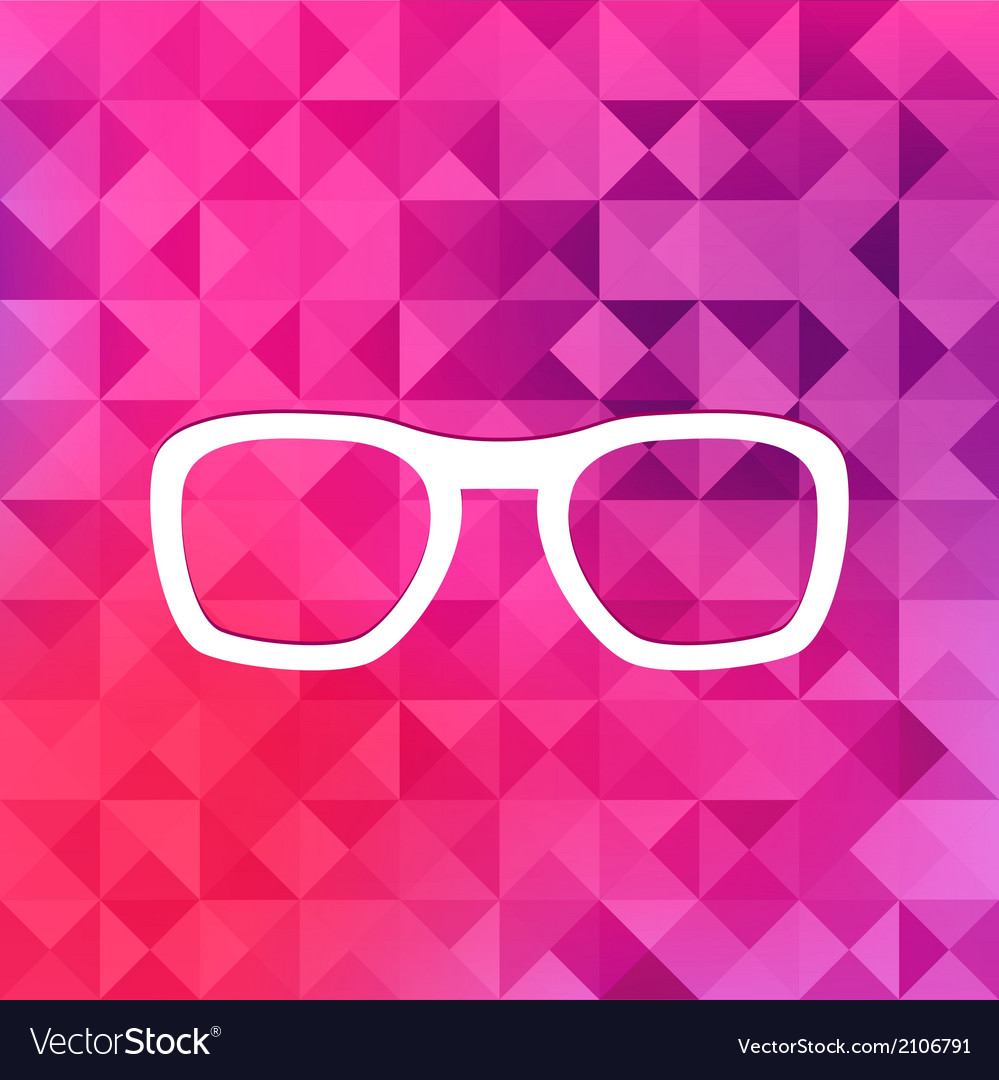 Glasses icontriangle background vector | Price: 1 Credit (USD $1)