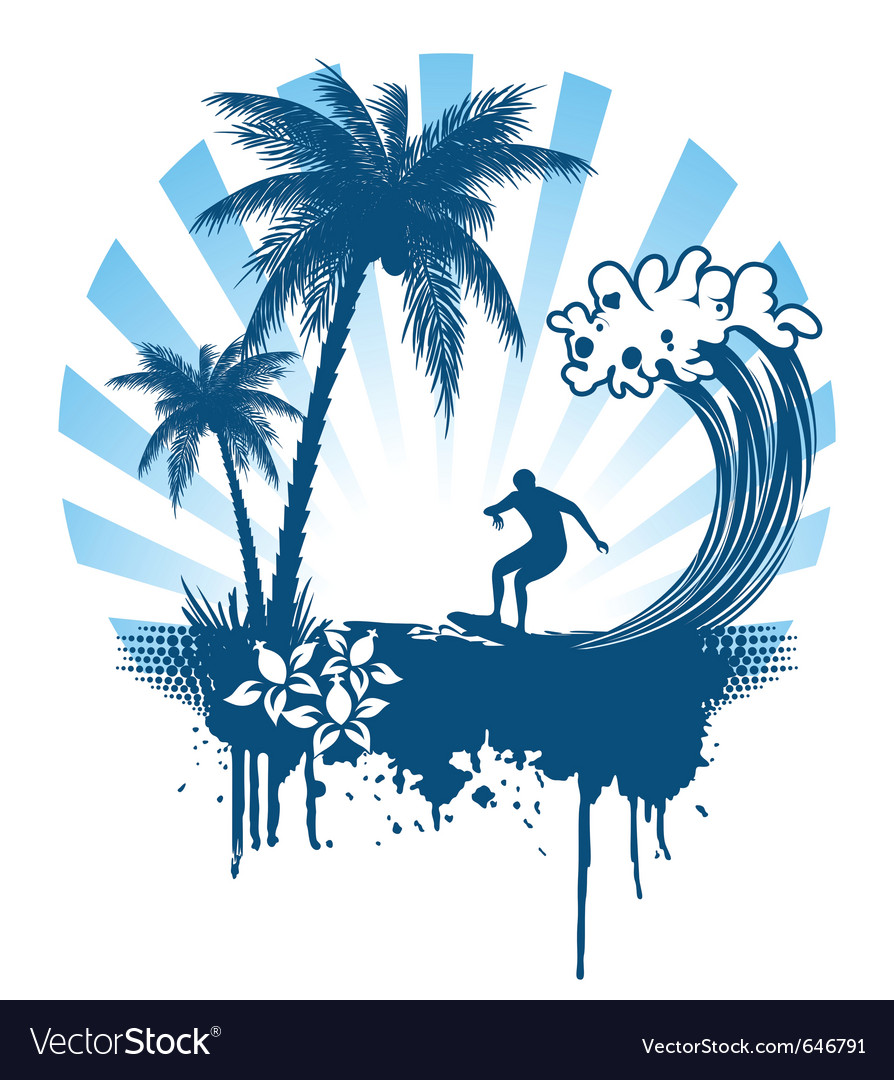 Grunge surfer vector | Price: 1 Credit (USD $1)