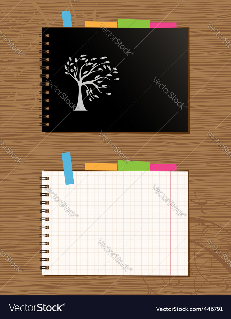 Notebook cover and page vector | Price: 1 Credit (USD $1)