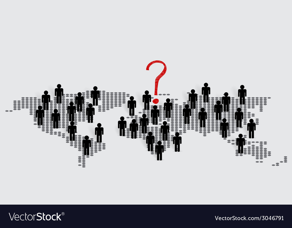 Social network concept people cut out of paper vector | Price: 1 Credit (USD $1)