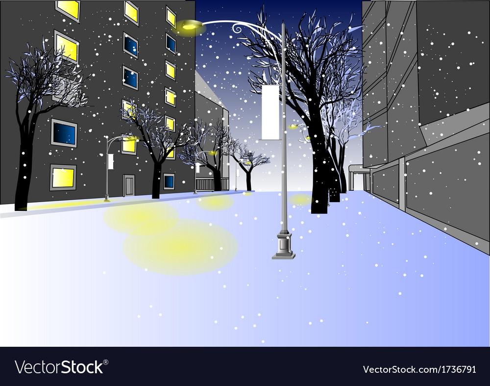 Urban street vector | Price: 1 Credit (USD $1)