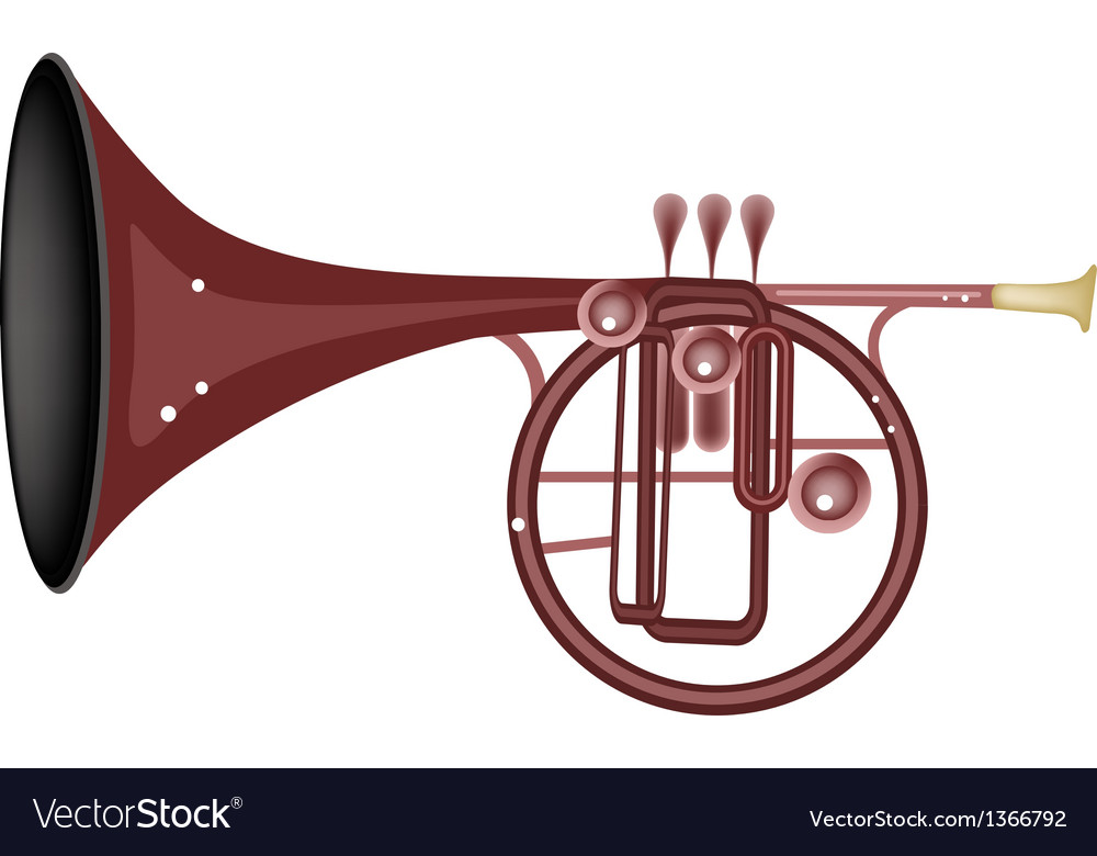 A musical straight mellophone vector | Price: 1 Credit (USD $1)