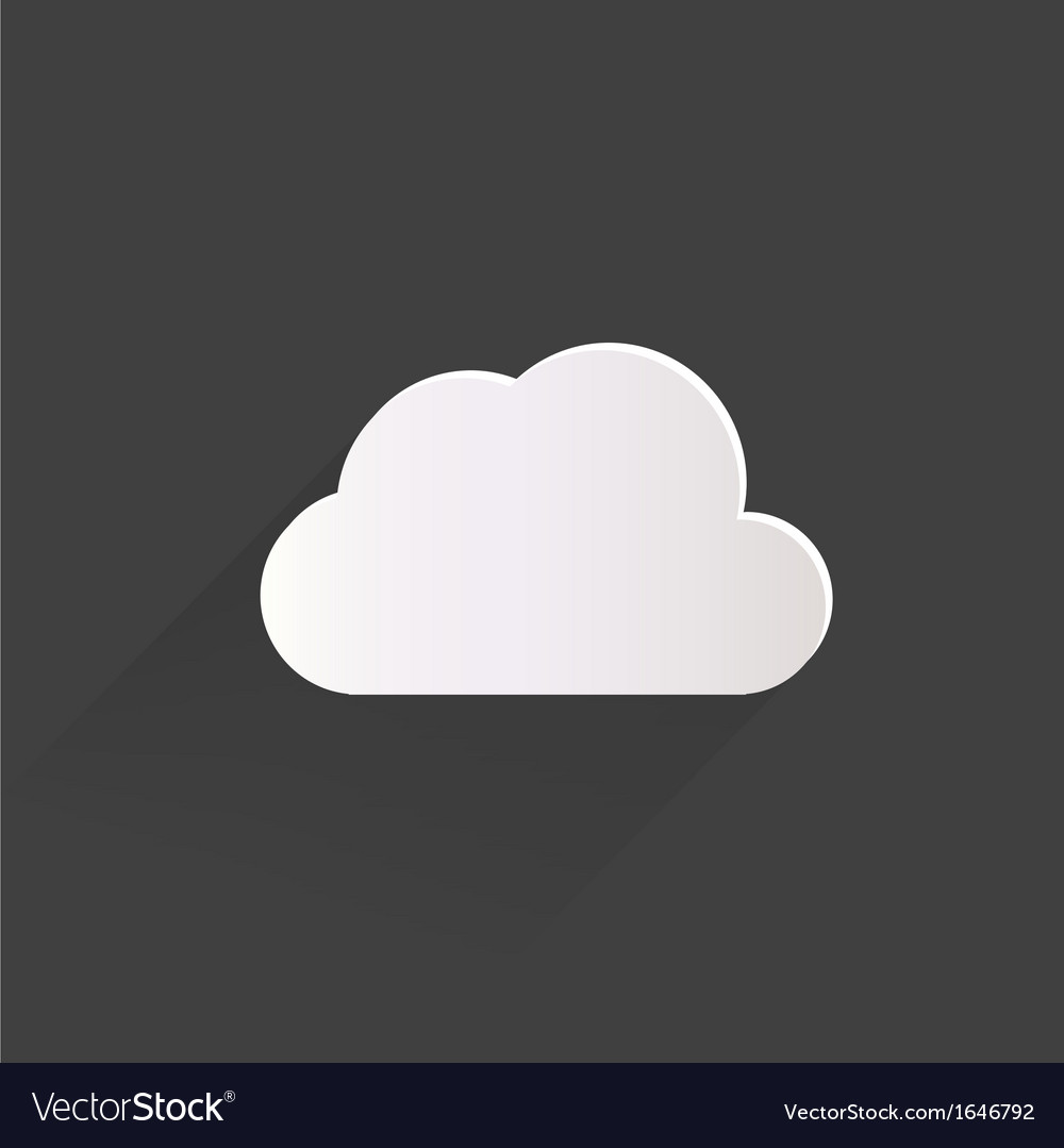 Cloud application web icon vector | Price: 1 Credit (USD $1)