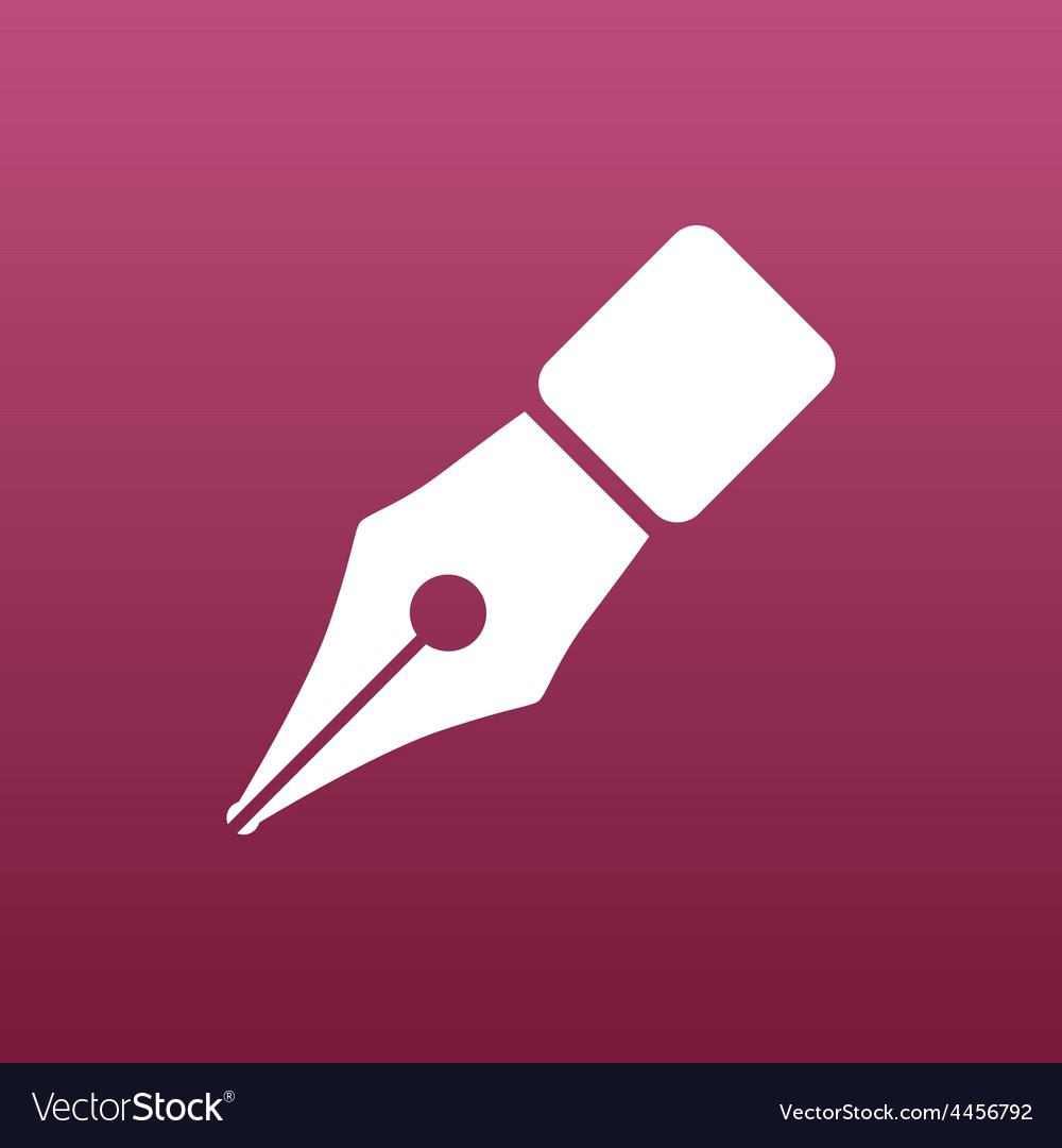 Fountain pen icon pen business write symbol vector   Price: 1 Credit (USD $1)