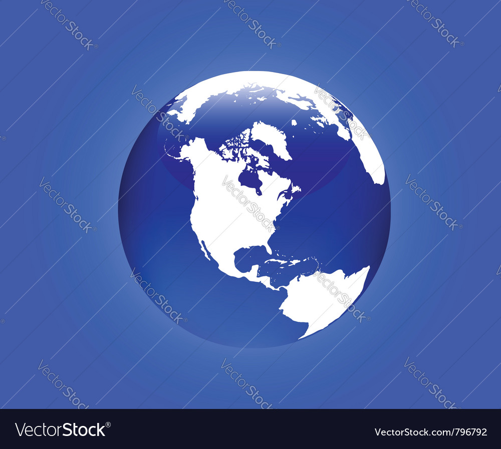 Globe america vector | Price: 1 Credit (USD $1)