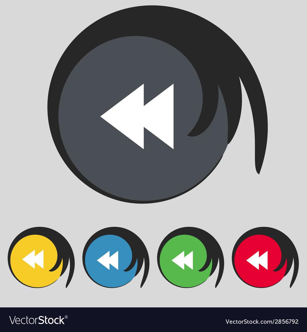 Multimedia sign icon player navigation symbol set vector | Price: 1 Credit (USD $1)