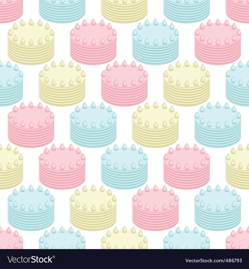 Cakes seamless vector | Price: 1 Credit (USD $1)