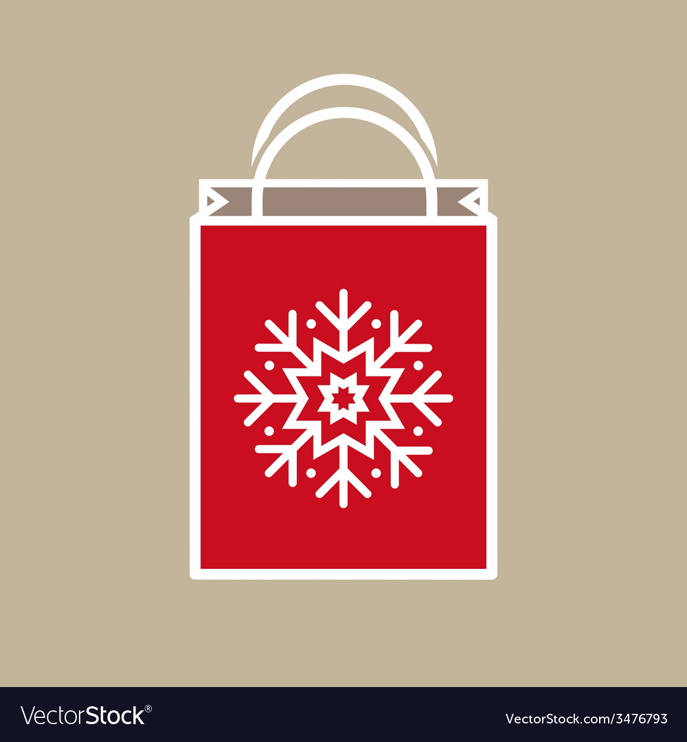 Christmas holiday gift bag vector | Price: 1 Credit (USD $1)