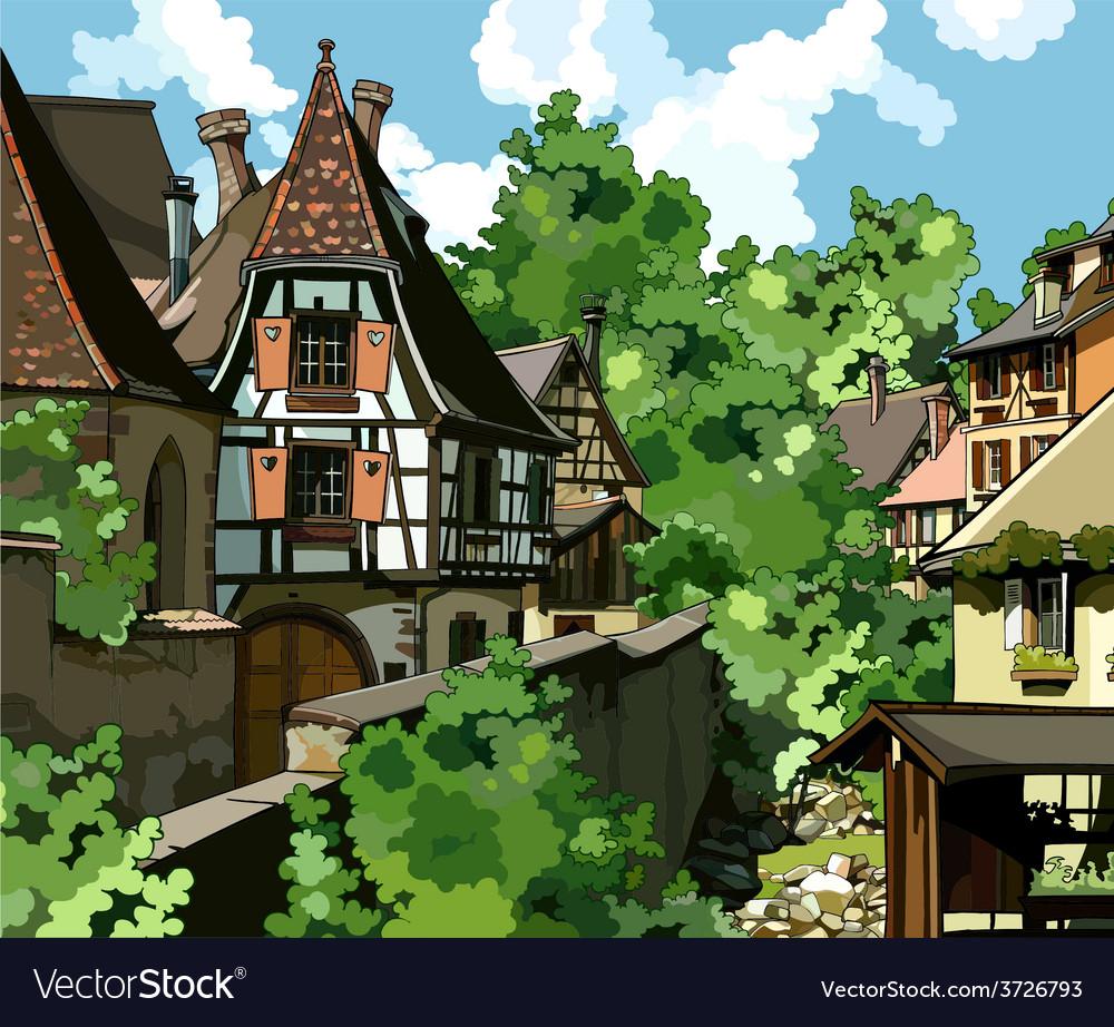 European village vector   Price: 3 Credit (USD $3)