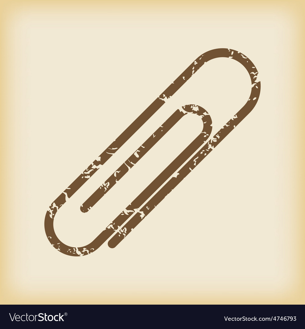 Grungy paperclip icon vector   Price: 1 Credit (USD $1)