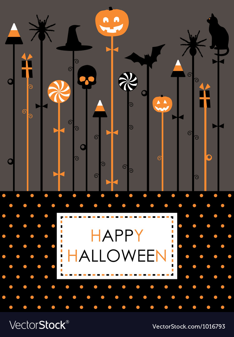 Halloween party card vector | Price: 1 Credit (USD $1)