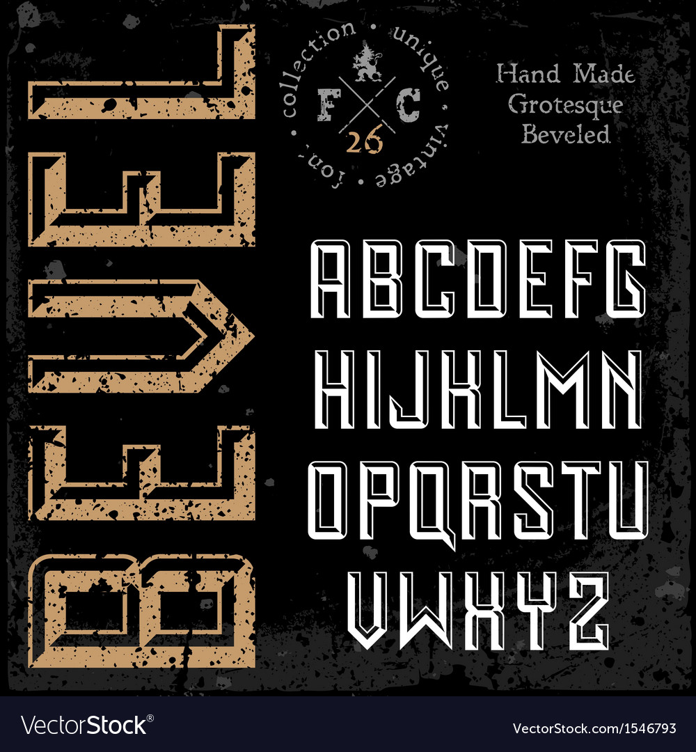 Handmade retro font vector | Price: 1 Credit (USD $1)