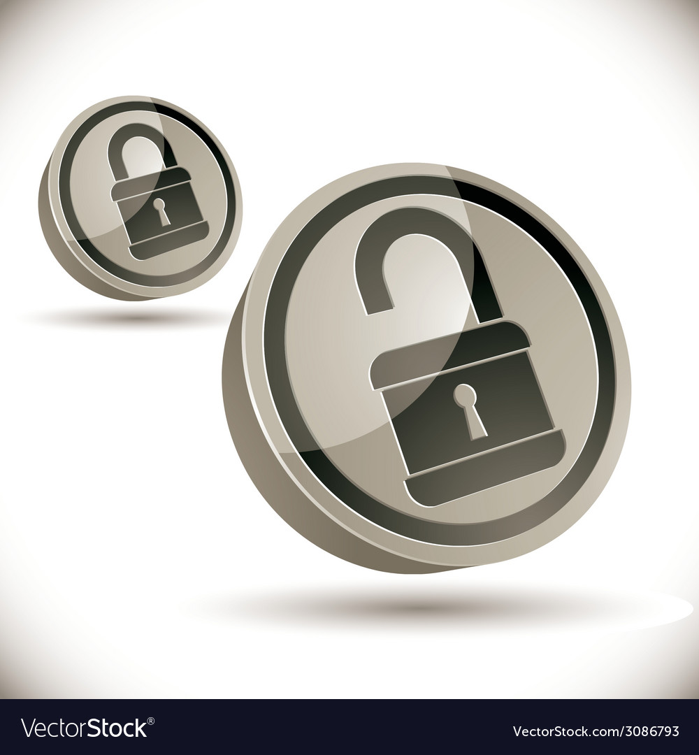 Lock 3d icon vector | Price: 1 Credit (USD $1)