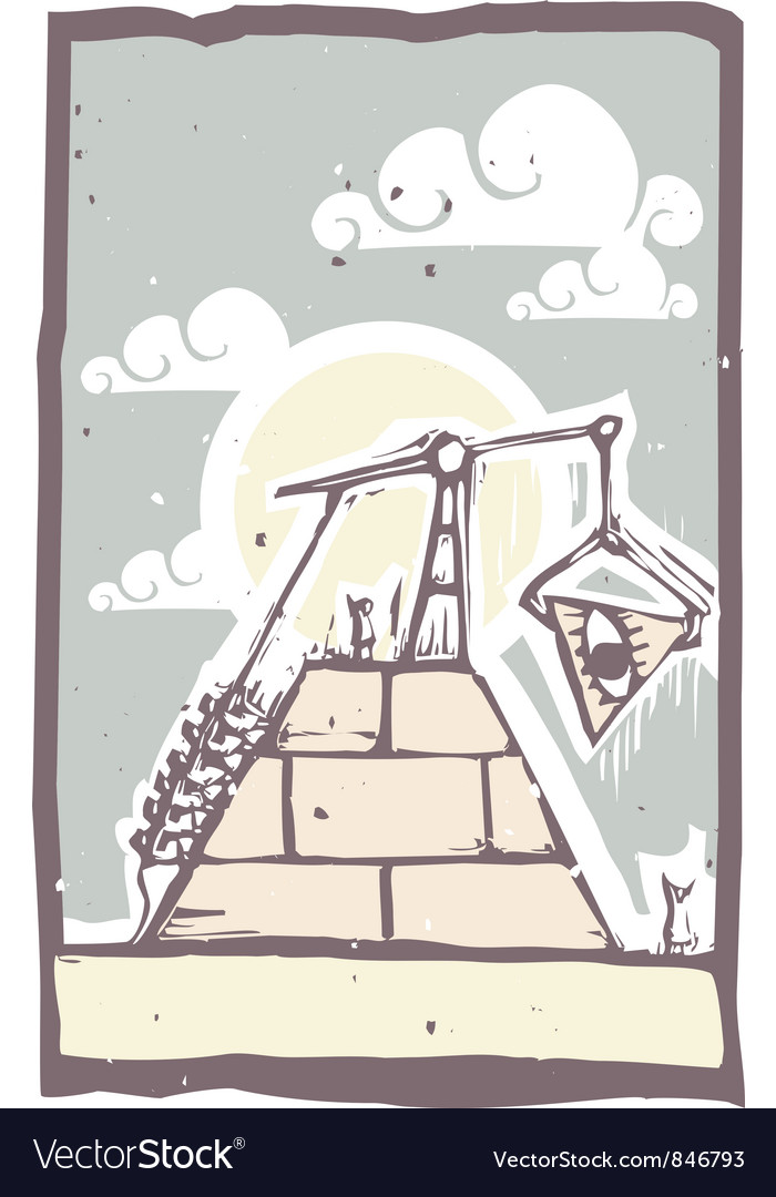 Masonic pyramid vector | Price: 1 Credit (USD $1)