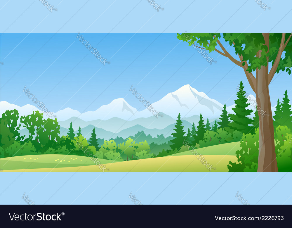 Mountain forest vector | Price: 3 Credit (USD $3)